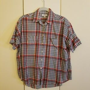 Madewell Courier Shirt, Summerweight Red Plaid, S